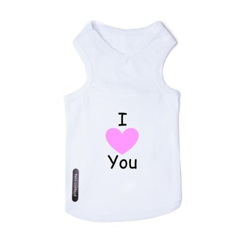 t-shirt-pour-chien-blanc-i-love-pink