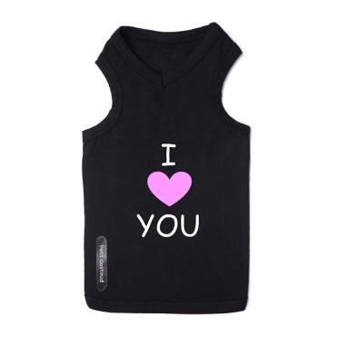 t-shirt-pour-chien-noir-love-pink