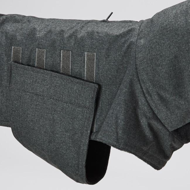07 07 C7 Dog Coat Brooklyn Cambridge Waterproof Wool Grey Detail 1 SCREEN