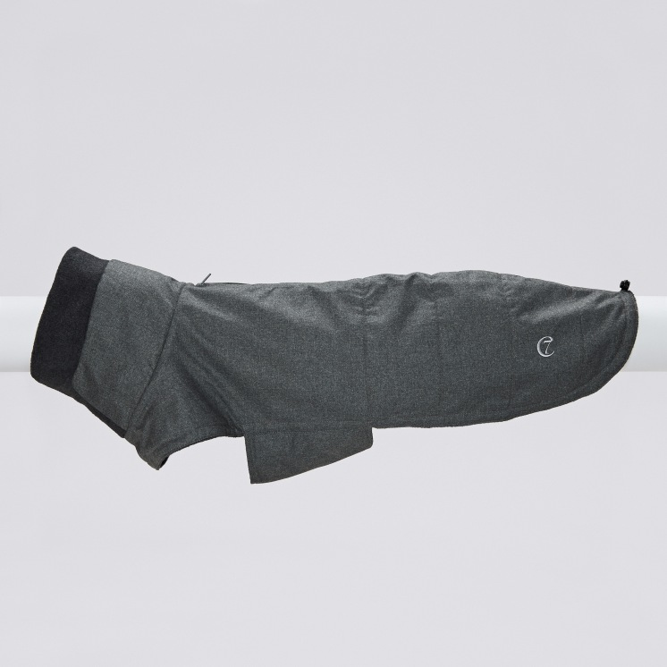 07 14 C7 Dog Coat Cambridge Waterproof Wool Grey 10 SCREEN