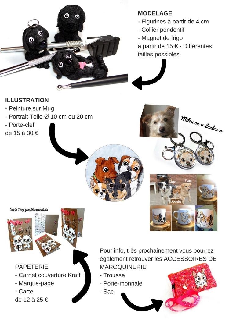 MODELAGE- Figurines à partir de 4 cm- Collier pendentif- Magnet de frigoà partir de 15 € - Différentes tailles possibles